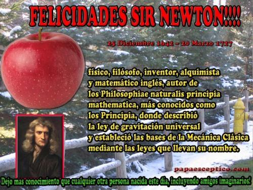 Dia de isaac newton navidad con ciencia