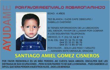 santiago Amiel Gomez Cisneros desaparecido