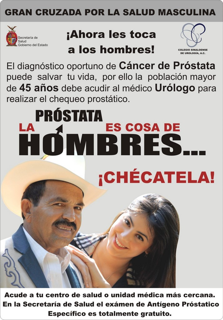 mensaje de próstata para ed